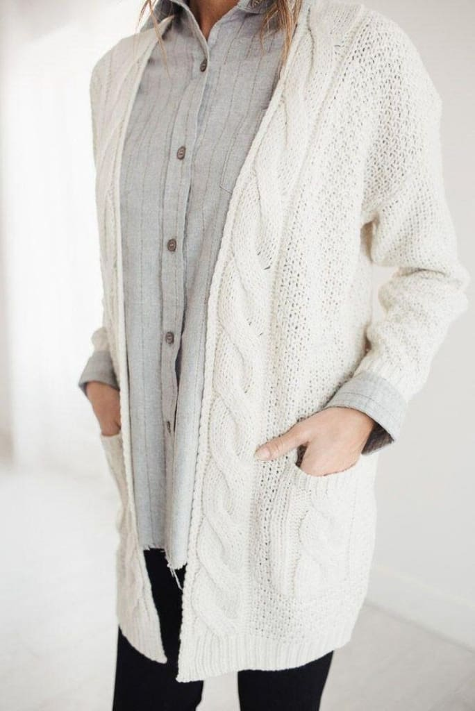 Roscoe Oversized Knit Cardigan - sweater - Affordable Boutique Fashion