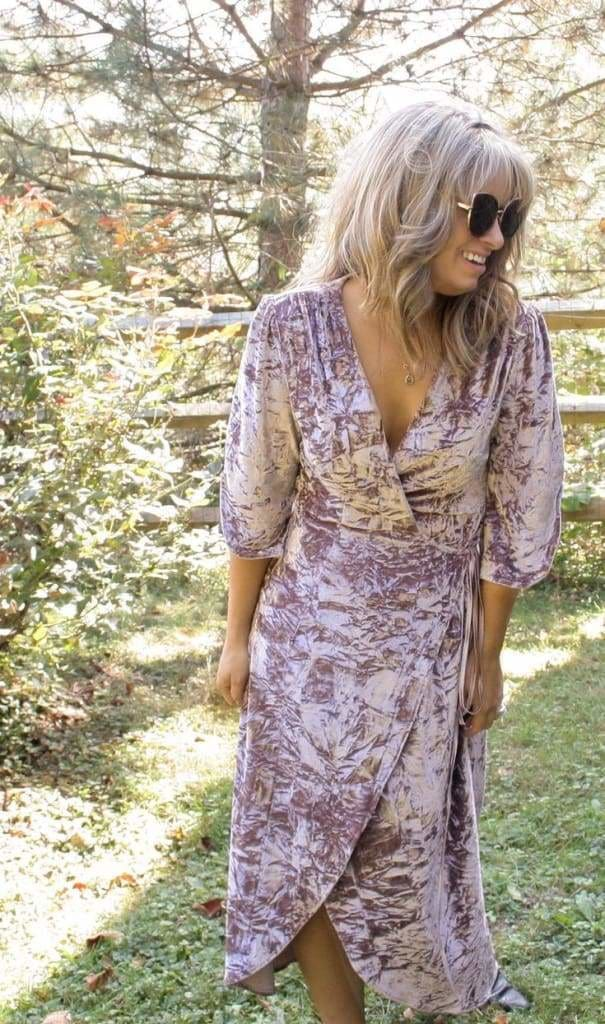 Rosie Crush Velvet Wrap Maxi Dress - Dresses - Affordable Boutique Fashion