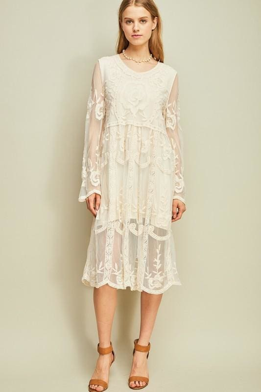 Roxy Lace Midi Dress - Dresses - Affordable Boutique Fashion