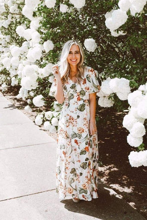 Ruth Floral Maxi Dress - Dresses - Affordable Boutique Fashion