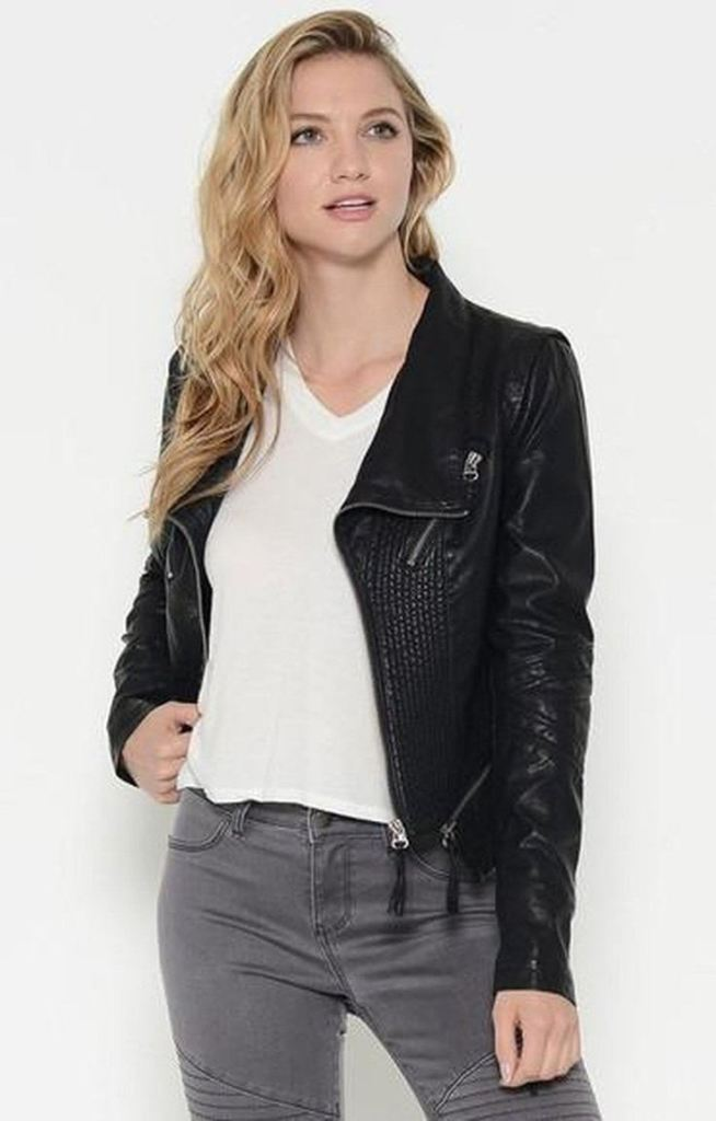 Salem Leather Moto Jacket - SALE - Affordable Boutique Fashion
