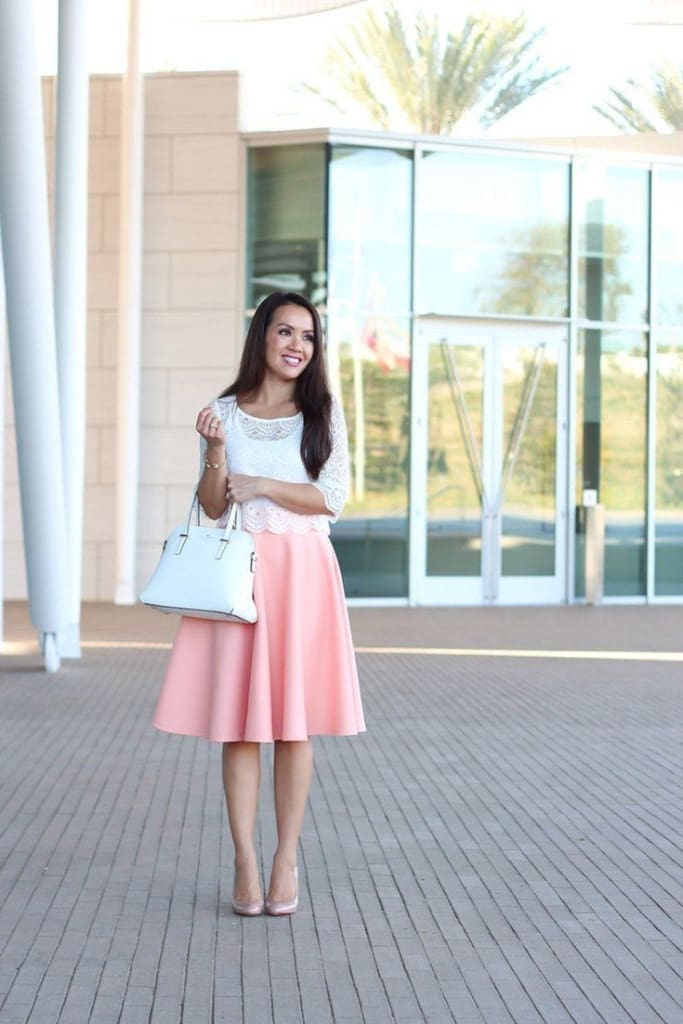 Santorini Midi Skirt - Blush - Bottoms - Affordable Boutique Fashion