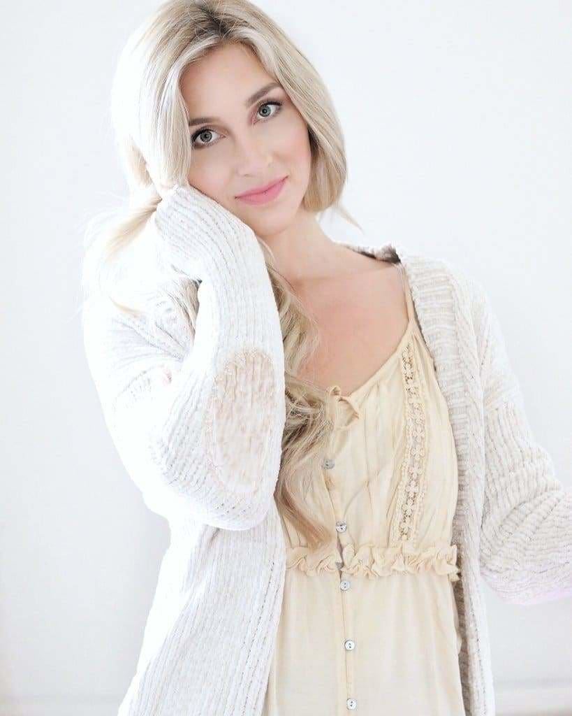 Savannah Velvet Patch Cardigan // More Colors - sweater - Affordable Boutique Fashion