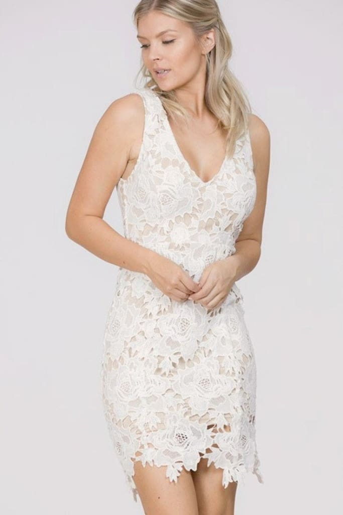 Showered in Elegance Lace Dress - DRESSES - Affordable Boutique Fashion