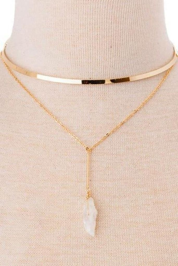 Skipping Stones Layered Choker Necklace . - JEWELRY - Affordable Boutique Fashion