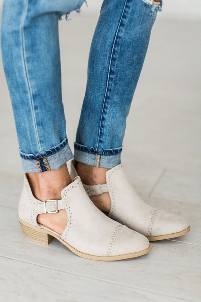 Sochi Oatmeal Booties -  - Affordable Boutique Fashion