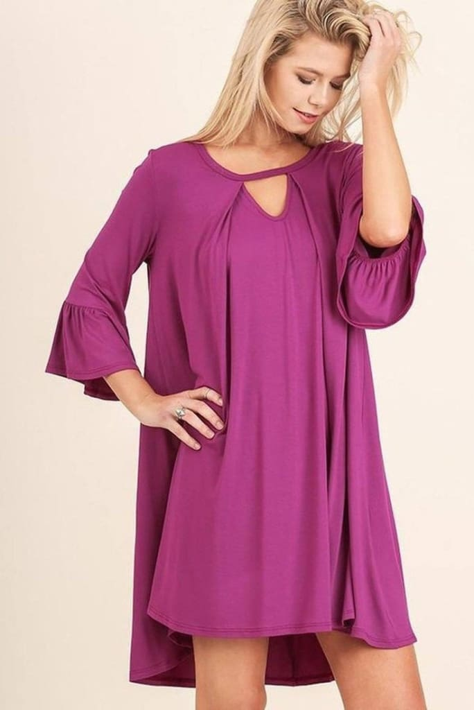Southport Shift Dress - Magenta . - Dresses - Affordable Boutique Fashion