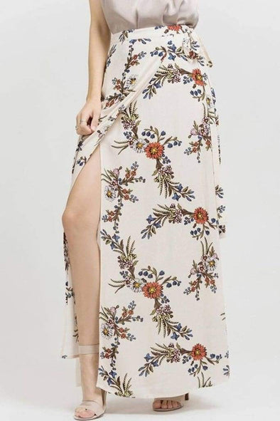Spellbound Bohemian Wrap Maxi Skirt - SKIRT - Affordable Boutique Fashion