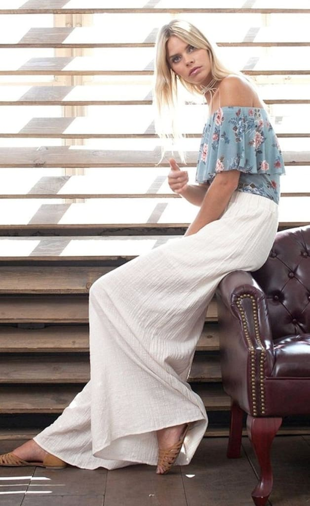 Spring Luxury Wide Leg Pants - PANTS - Affordable Boutique Fashion