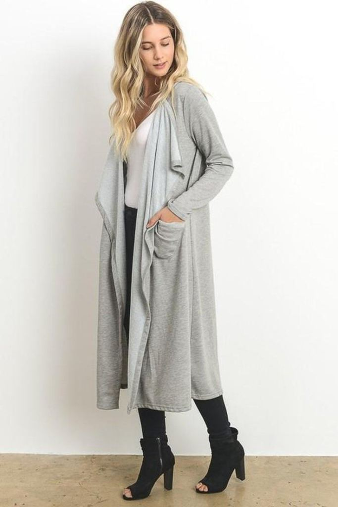 Starlet Duster Cardigan - Tops - Affordable Boutique Fashion