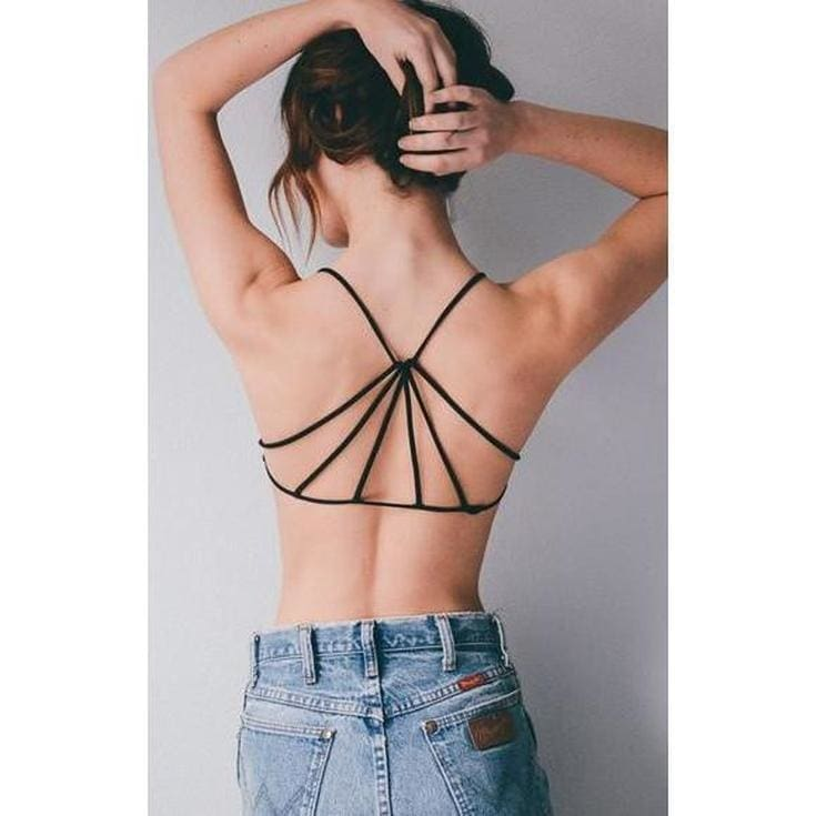 Sun Goddess Strappy Back Bra - White - Tops - Affordable Boutique Fashion