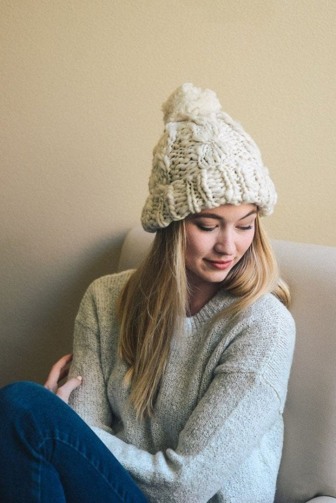 The Addison Pom-Pom Beanie // 5 Colors - hats - Affordable Boutique Fashion
