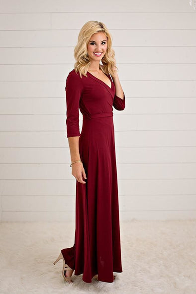 The Jonna Wrap Maxi Dress - Dresses