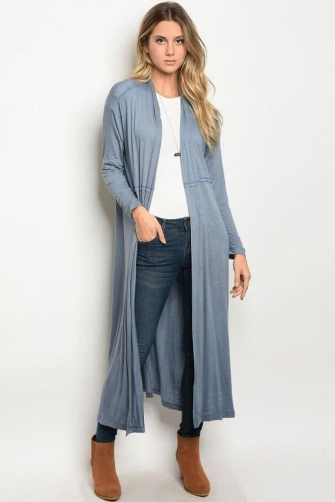 the Journey Cardigan | Slate - sweater - Affordable Boutique Fashion