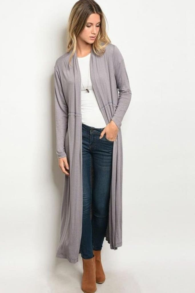 The Journey Duster | Charcoal - sweater - Affordable Boutique Fashion