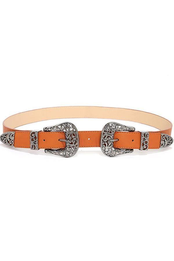 the Kendall Double Buckle Belt - Accessories - Affordable Boutique Fashion