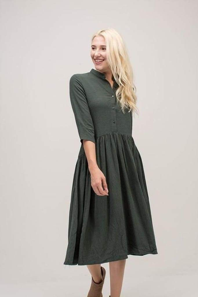 The Mckinnie Dress in Forest - DRESSES - Affordable Boutique Fashion