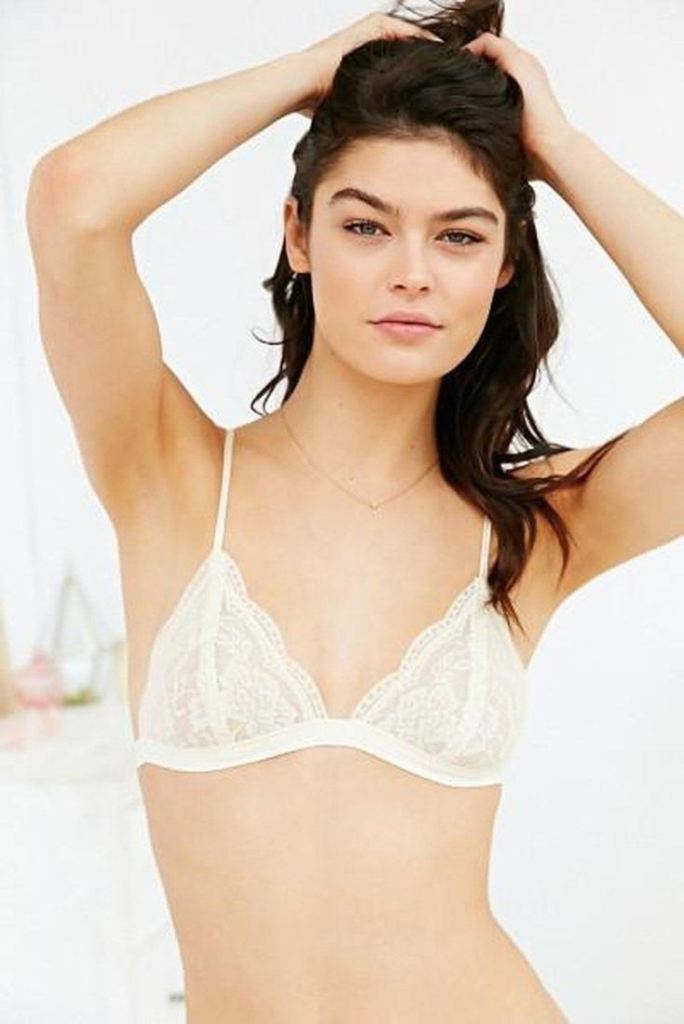 The Mindy Triangle Lace Bralette - Beige - Tops - Affordable Boutique Fashion