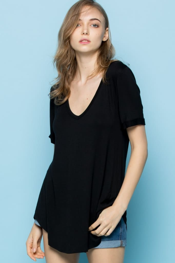 The Oversized Perfect Tee - Black - Tops - Affordable Boutique Fashion