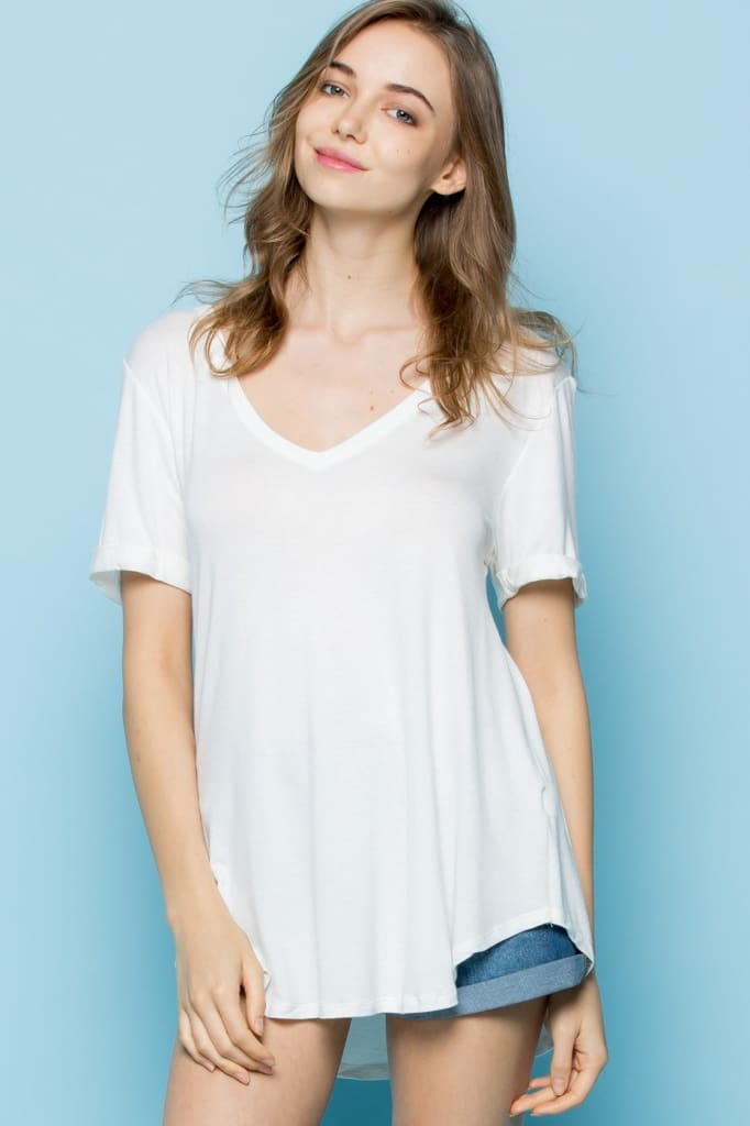 The Oversized Perfect Tee - White - Tops - Affordable Boutique Fashion