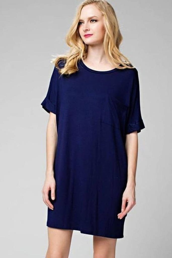 The Rileigh T-Shirt Dress - Navy . - SALE - Affordable Boutique Fashion