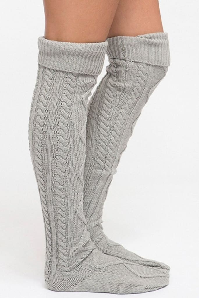 The San Fran Boot Socks - Grey - sock - Affordable Boutique Fashion