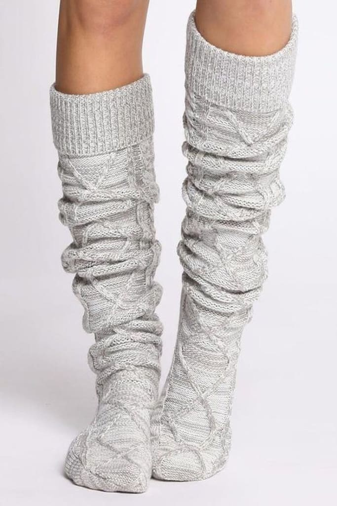 The San Fran Marled Knit Boot Socks - sock - Affordable Boutique Fashion