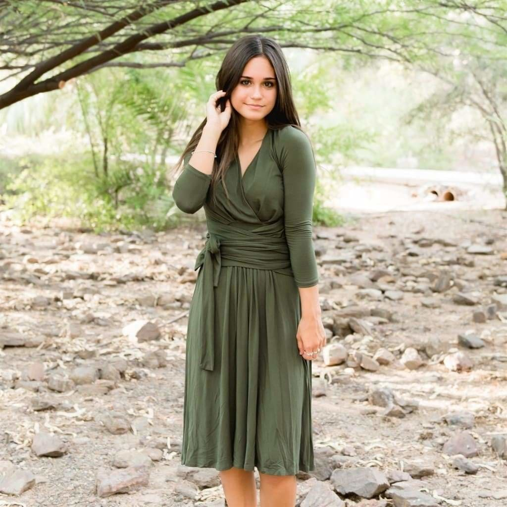 The Two-Fer Wrap Dress by MOMIFORM - Dresses - Affordable Boutique Fashion