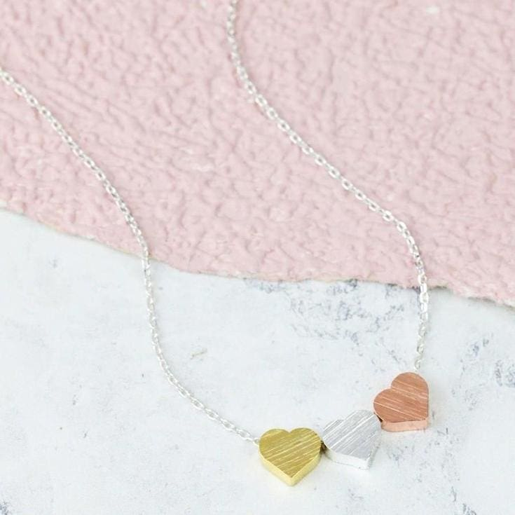 Triple Heart Necklace - valentines - Affordable Boutique Fashion