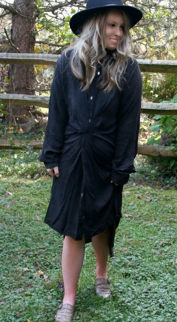 Utah Knot Front Shirt Dress | Nursing Friendly - Dresses - Affordable Boutique Fashion
