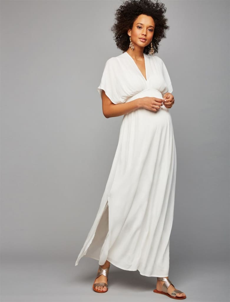 Virginia Gauze Caftan Maxi | White - vest - Affordable Boutique Fashion