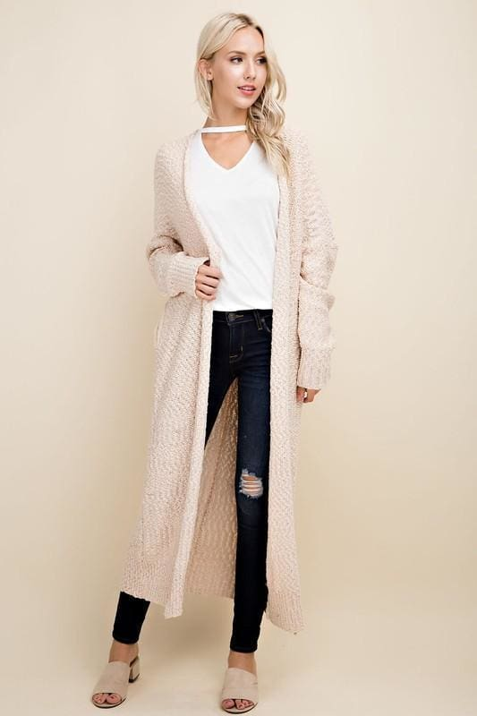 Weekender Boucle Cardigan | Cream - Sweaters - Affordable Boutique Fashion