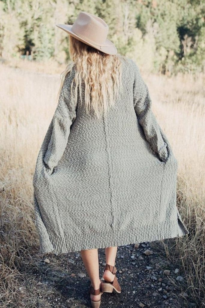 Weekender Boucle Cardigan | Grey - Sweaters - Affordable Boutique Fashion