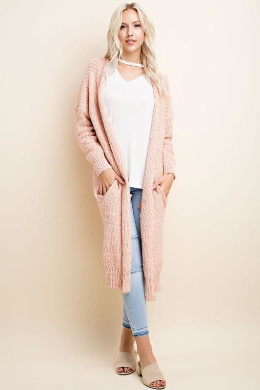 Weekender Cardigan | Blush - Sweaters - Affordable Boutique Fashion