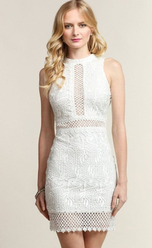 2aede60af8d Weekends in the City Crochet White Lace Dress - DRESSES - Affordable  Boutique Fashion