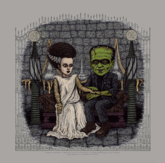 """Universal Classic Monsters"" 7 print set - Silver Screen Edition."