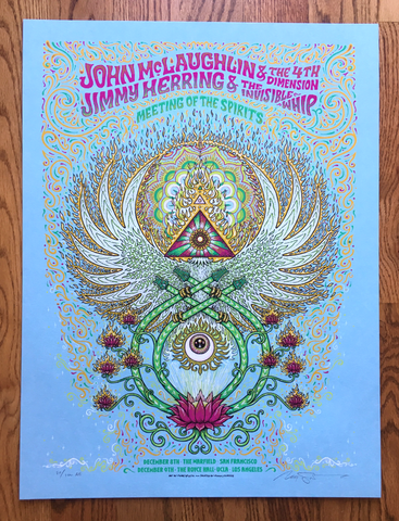 John McLaughlin / Jimmy Herring - SF/LA Artist Edition Poster