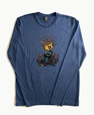 Inspired By Life Long Sleeve Vintage Royal Shirt