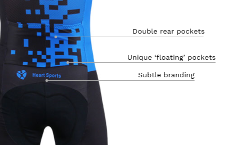 Heart Sports Trisuit Close Up 3