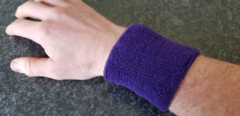 Sweatband - purple, or blue?
