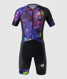 Short Sleeve Trisuit - Purple Thunder