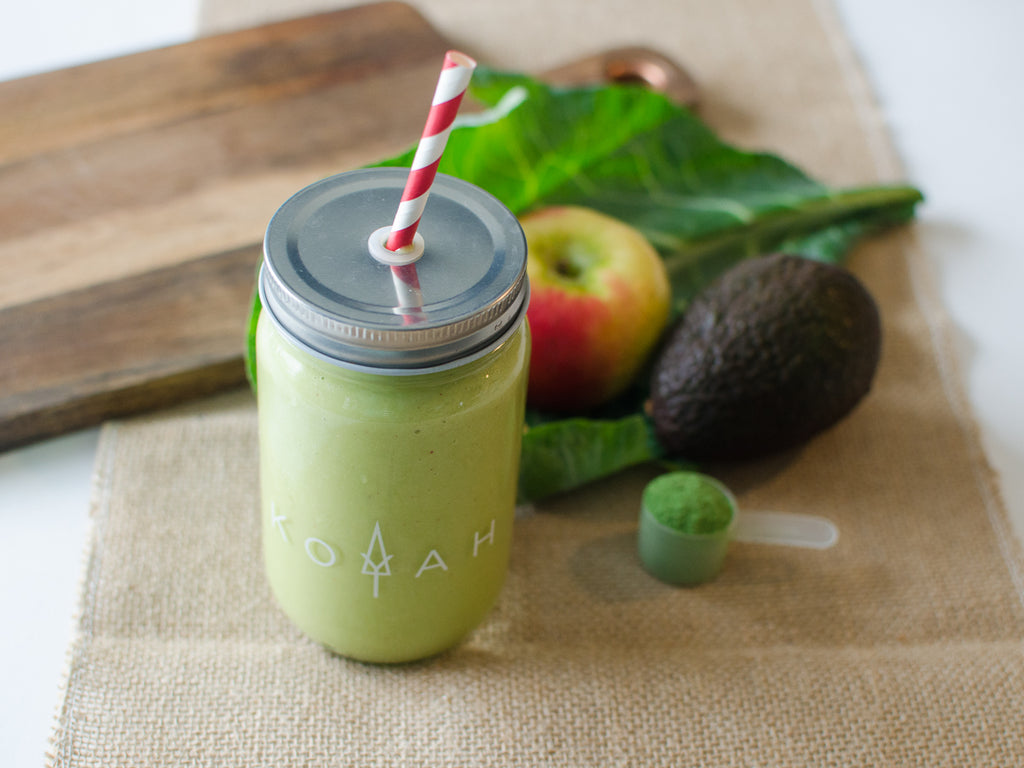 Avocado Collard Greens and Apple Smoothie