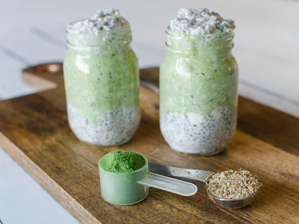 Delicious kale overnight oats