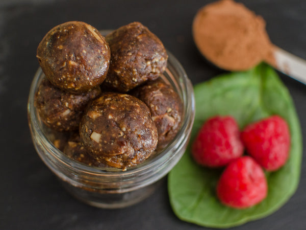 Vegan chocolate coffee balls