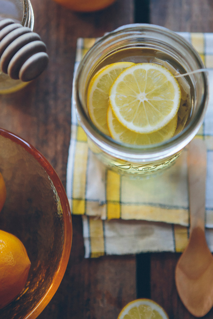 lemon water to help you stay hydrated