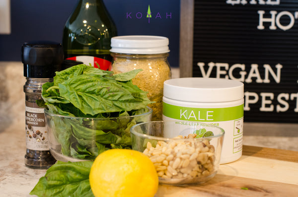 Ingredients for Vegan Kale Pesto