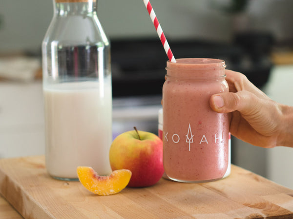 Raspberry Peach Apple Smoothie