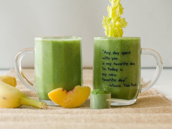 Kale and Peach Smoothie