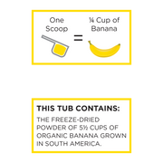 Organic Banana Powder - South America Grown & Freeze-dried in the USA