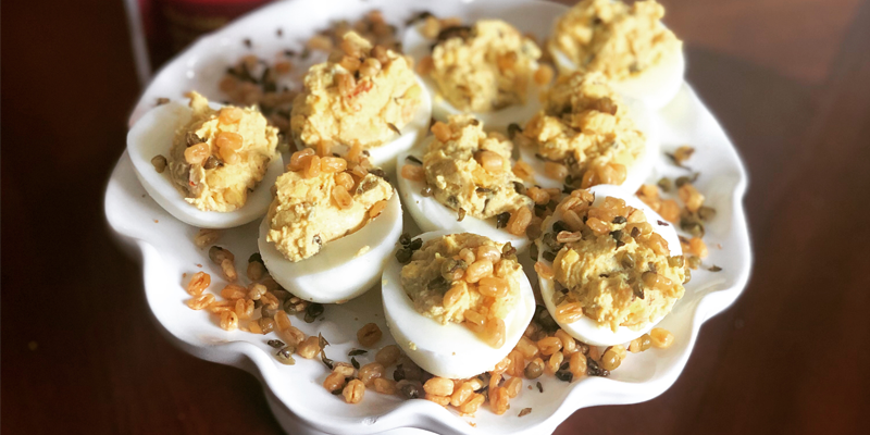 Beyond Bacon Deviled Eggs